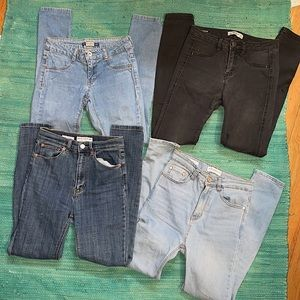 4 pairs of pull&bear jeans size EUR 34, mex 24